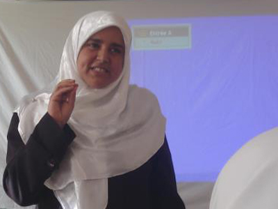 "Algeria – Awlad Jalal: trainer Aisha Lazinc in an ""Invitation to Think"" seminar"