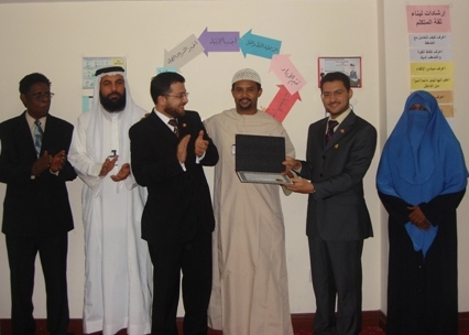 Trainee Osman Elmahel while receiving the certificate