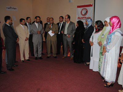وقام المدرب عبد العزيز الزيغ بالمشاركة بكلمات الختام.