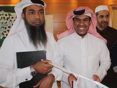 المدربون حمد جابر الجابر، محمد عبدالله المهندي، خالد عيسي جاسم المهيزع من قطر.