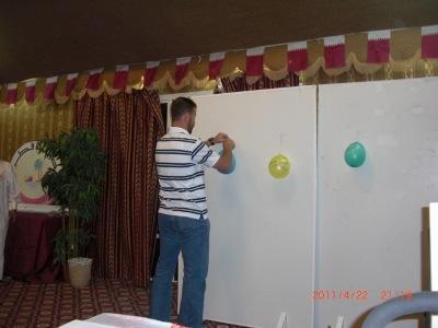 المتدرب عبد الرؤوف أثناء تعليق أهدافه من الدورة فى اليوم الأول.