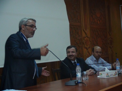 افتتح المدرب محمد عزام القاسم هذه المناسبة بشكر القائمين عليها والسيد المحافظ.