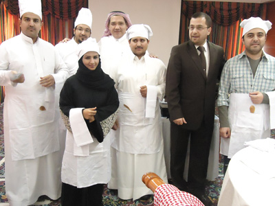 of DR. Mohammad Badrah with a group of the trainees
