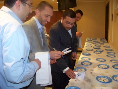 Trainees are choosing food