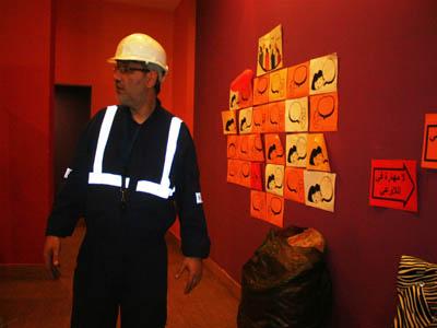 وصول المهندس المشرف على الأعمال (المدرب محمد عزام القاسم)