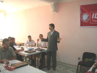 Trainer Samir Kohile during the course