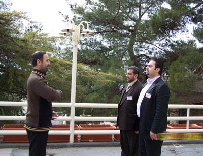 Trainees during exercising - Trainee Ali  hlehel (front right) - Trainee Yosef  I.Humady (back right) - Trainee Mustafa  Al-Aaraj (left)