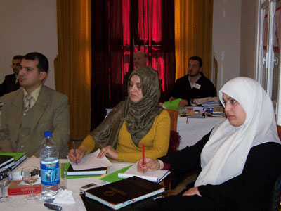 Trainees during the session