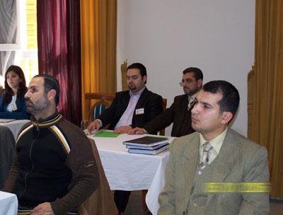 Trainees during session - Trainee Mohammad Mafaz  Q.Yahya (right) - Dr. Mustafa  Al-Aaraj (left)