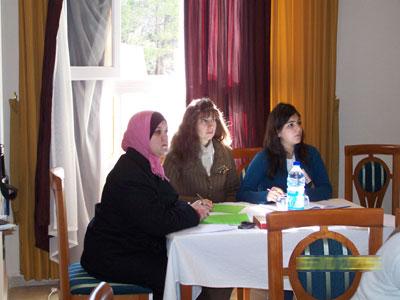 Trainee Fimi Kurkjian (right) - Trainee Roula  Sakakini (middle) - Trainee Eeman  Hairan (left)