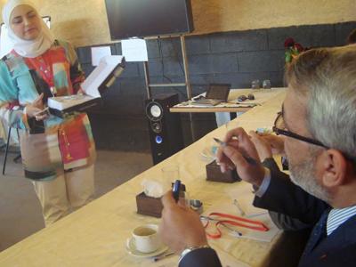 عرض نهائي للمدربة رانيا زند الحديد أمام اللجنة.