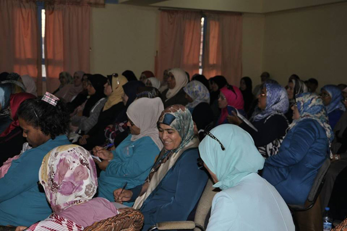 الحضور في قاعة التدريب