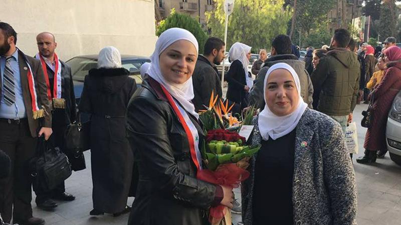 المدربة هدى الصيداوي والمدربة رزان المصري مشاركات في الاحتفال