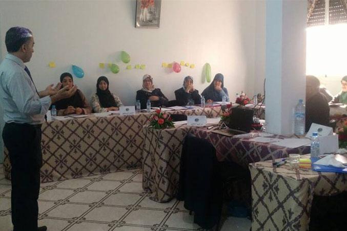 تركيز المشاركين أثناء الشرح