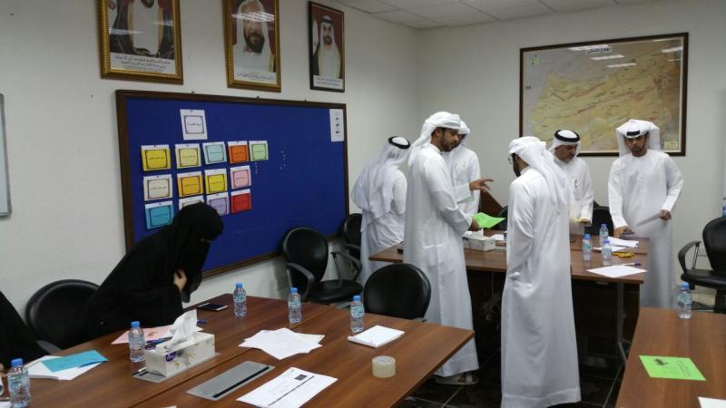 إيلاف ترين الإمارات وضمن برامج منحة غير تقدم دورة أساسيات إدارية
