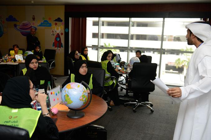 المدرب أول ماجد بن عفيف أثناء تقديم الشرح