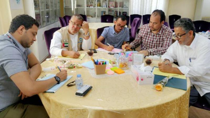 تقسيم المتدربين لمجموعات وتنفيذ تمارين البرنامج