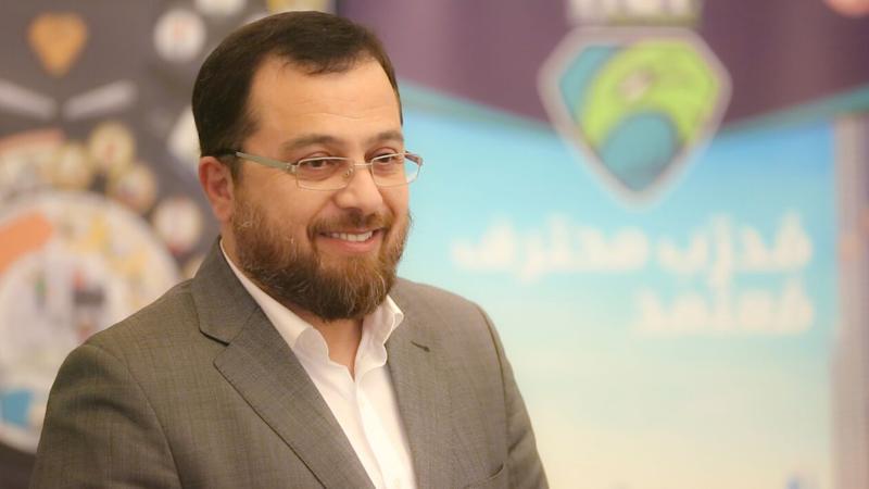 الاستشاري الدكتور محمد بدرة أثناء كلمة حفل الختام
