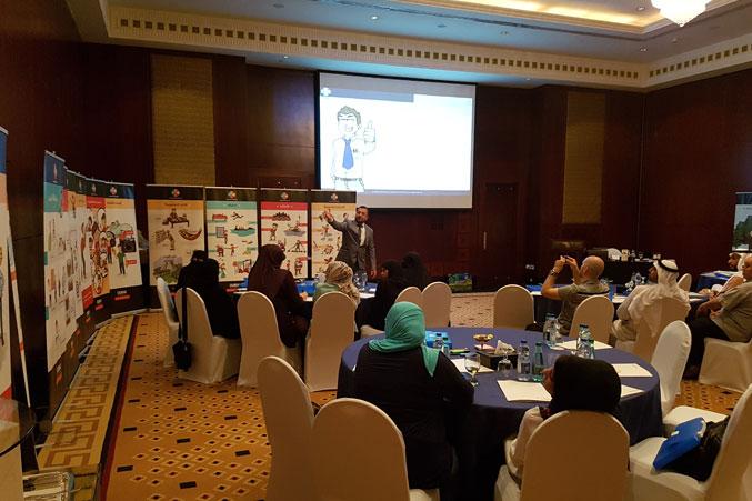 الدكتور محمد يقدم شرحا عن مراحل عملية التعلم