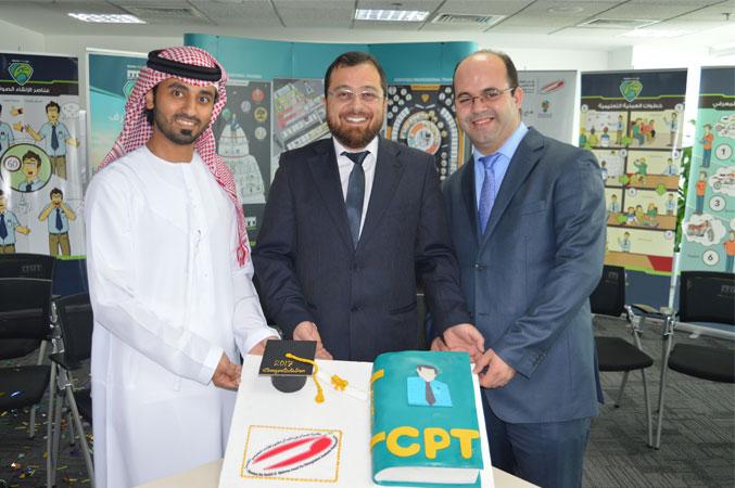 الدكتور محمد والمدرب أول عادل والمدرب أول ماجد في حفل الختام