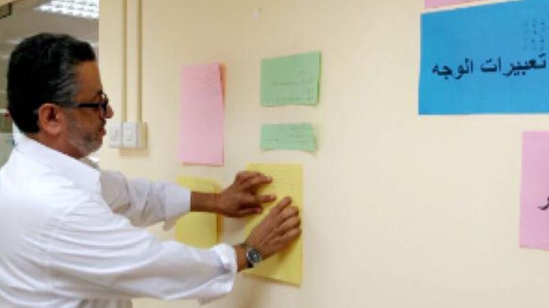 استثمار قاعة التدريب واستخدام الصور الجدارية في تنفيذ التمرينات