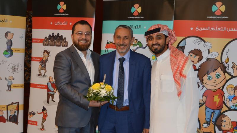 صورة تذكارية مع المدرب محمد بدرة