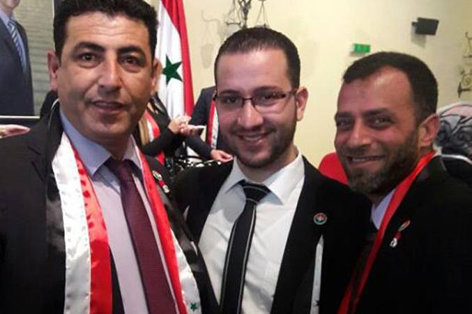 المدرب عبد الستار السيد والمدرب زياد الوتار مشاركين في الحفل