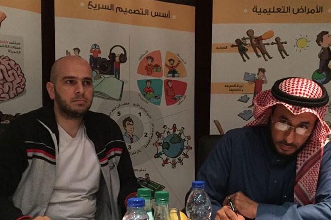 المدرب نبيل الحكمي والمدرب يوسف دوارة