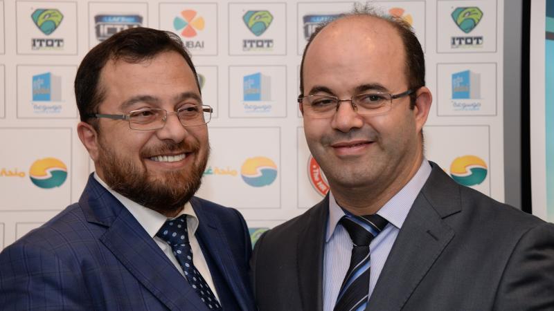 الدكتور محمد والمدرب أول عادل عبادي في صورة للذكر