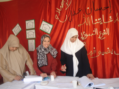 "Algeria-Biskra: ""Life Management"" course by trainer Aisha Lezek using for the first time Accelerated Learning Techniques."