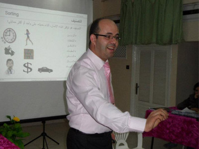 "Spain - Madrid: training lecture entitled ""Goals Setting"" for trainer Adil Abbadi"