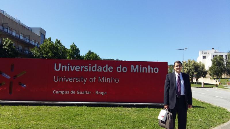 مبارك للدكتور علاء صالحاني اختياره للتدريس ضمن جامعة Minho الحكومية في البرتغال