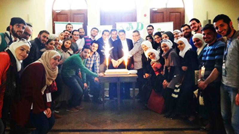 تكريم الناجحين في امتحان شهادة المحاسب الإداري المعتمد CMA، مع الدكتور علاء صالحاني.