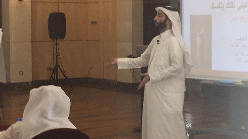 المدرب الأول حمزة الدوسري مشاركاً في فعاليات اليوم الوطني لدولة قطر