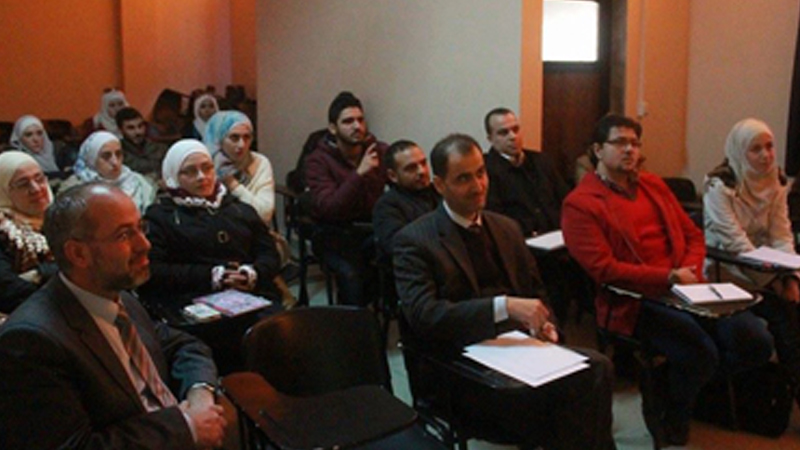 الجامعة الأوربية، ورشة عمل بعنوان بازل 3 وواقع المصارف السورية مع الدكتور علاء صالحاني.