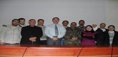 سوريا - دمشق: المدرب أحمد خير السعدي يبدأ عامه التدريبي في مدينة حسياء الصناعية 2011