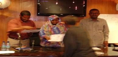 السودان - الخرطوم:  مشاركة المدربة د. اسماء حسين ادم في دورة القيادة والتفكير الابداعي
