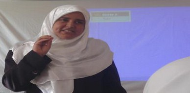 "Algeria – Awlad Jalal: trainer Aisha Lazinc in an ""Invitation to Think"" seminar"