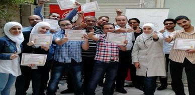 """سوريا - دمشق: اختتام دورة """"إدارة المشاريع"""" للمدرب همام هندي والمدربة يمان خباز"""