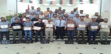 ليبيا - طرابلس الغرب: اختتام دورة مميزة حول أمن المرافق والمنشآت الحيوية للمدرب جمعة محمد سلامة