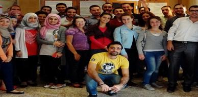 """سوريا – حماة: """"التاء التكعيبية"""" في مطرانية السريان الكاثوليك مع المدرب د.محمد اياد الزعيم"""