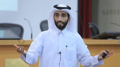 """ضمن برنامج قادة جامعة قطر مشاركة المدرب أول حمزة الدوسري في دورة بعنوان فن الخطابة والتواصل الأستراتيجي"""""""