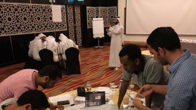 المدرب أول حمزة الدوسري في دورة الفاعلية الشخصية لمنسوبي اللجنة الدائمة لاحتفالات اليوم الوطني