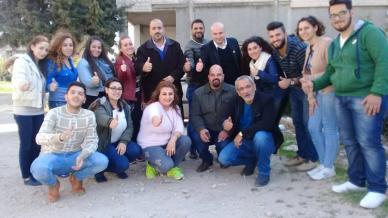 المدرب ممارس همام هندي وعطاء متجدد في ختام سلسلة دورات مدينة حمص - وادي النضارة