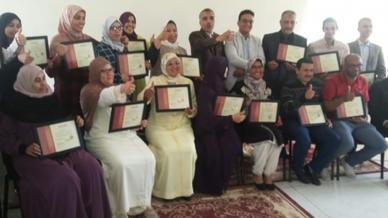 المدرب الأول عبدالله ادالكاهية يختتم دورة استشاري أسري في أولادية تايمة
