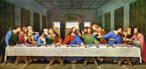 1.لوحة العشاء الأخير
