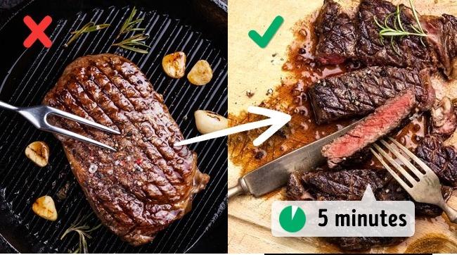 تناوُل اللحم مباشرةً بعد طهوه