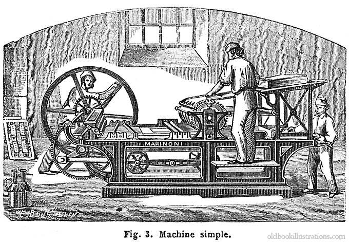 آلة طباعة قديمة