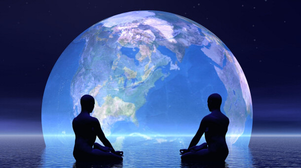 الكرة الأرضية والتأمل