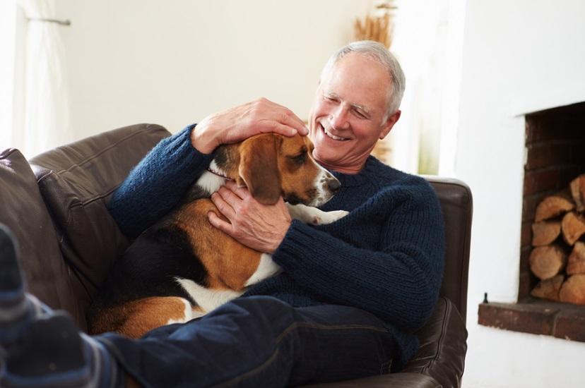 رجل وكلب